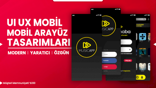 Mobil & Web UI/UX Arayüz Tasarımınızı Yapabilirim