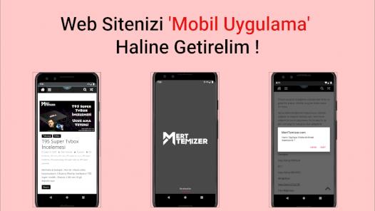 Web Sitenizi Mobil Uygulamaya Dönüştürelim