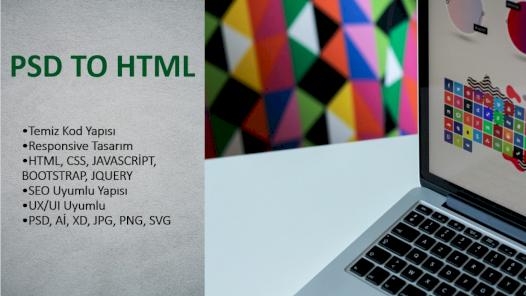 Ben, görsel tasarımlarınızı html olarak kodlayabilirim