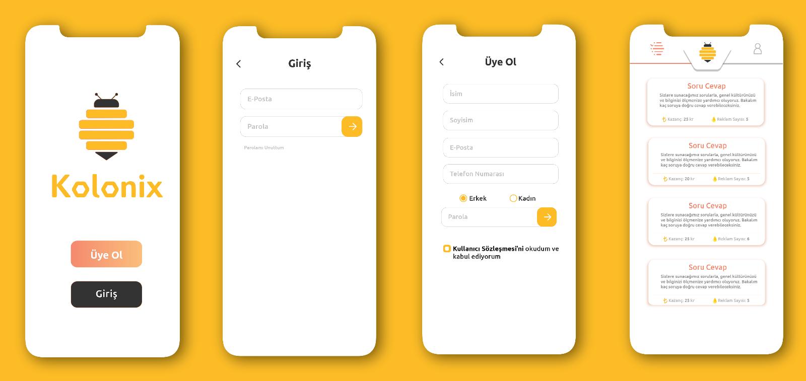 Mobil Uygulamanızın Arayüz Tasarımını Yapabilirim