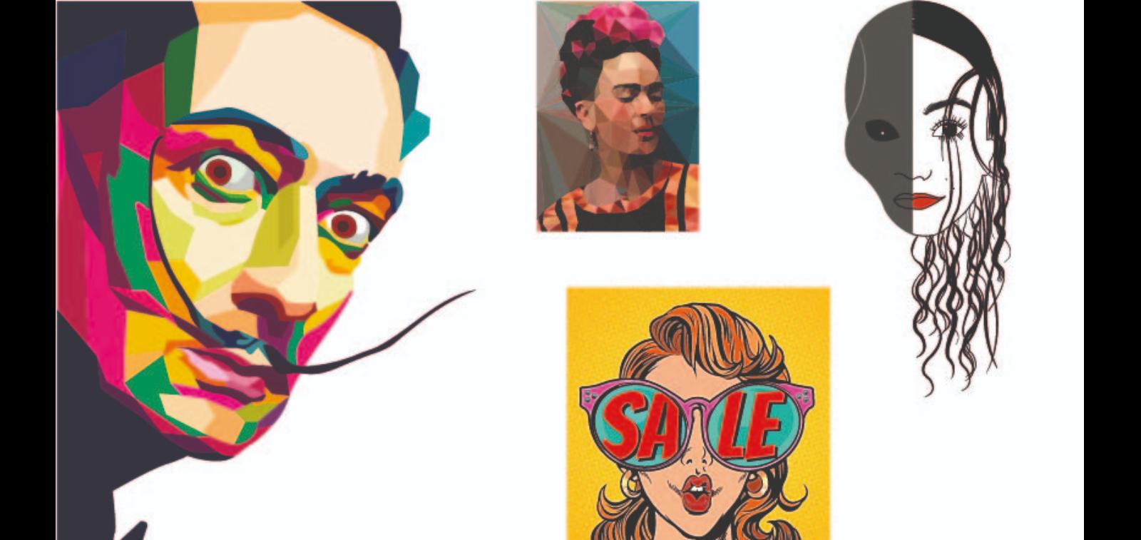 Kişisel Line Art/ Pop Art/ WPAP/ Low Poly/ Illistrasyon Çalışmaları